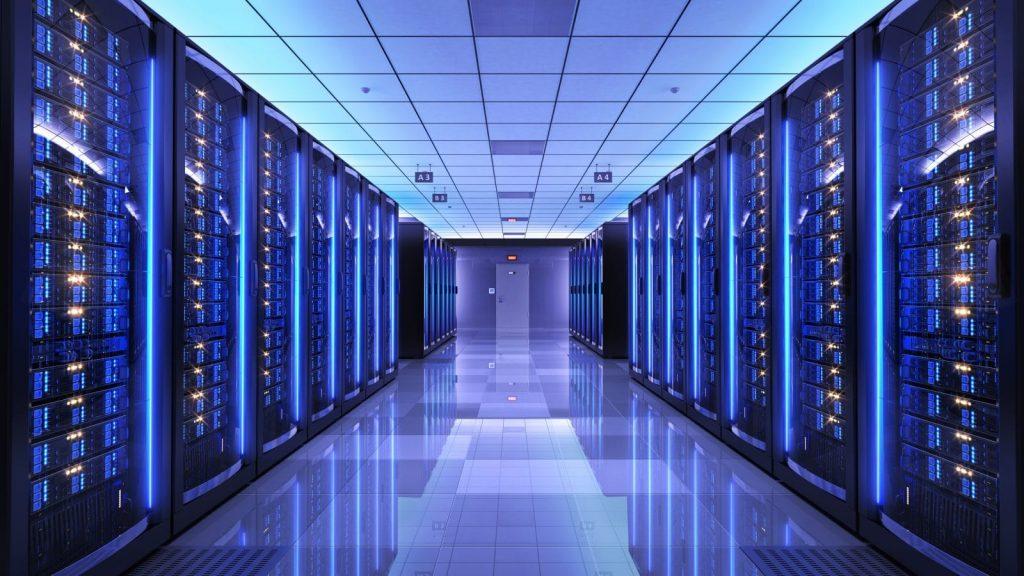 centre d'hébergement de données web