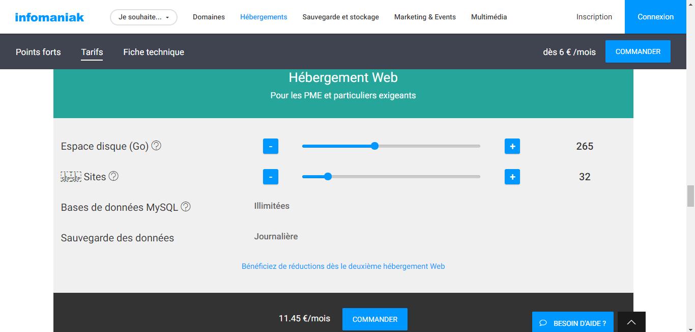 infomaniak hébergement de site internet pas cher simple et rapide