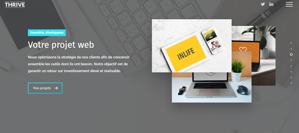 meilleure agence web à Bordeaux THRIVE