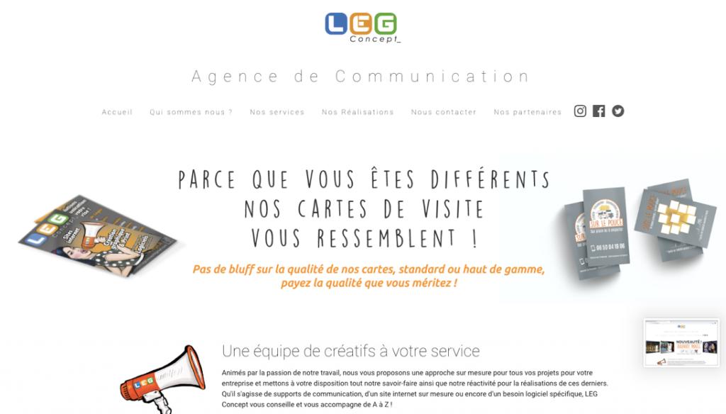 créateur de flyer et communication globale LEG concept
