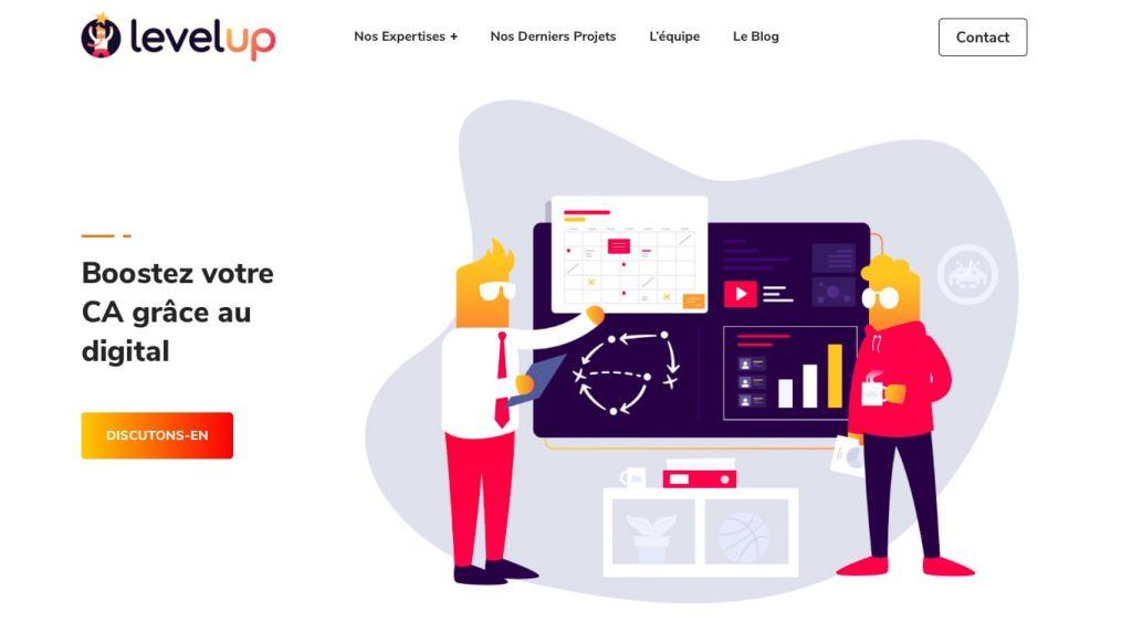 Level Up Digital agence web