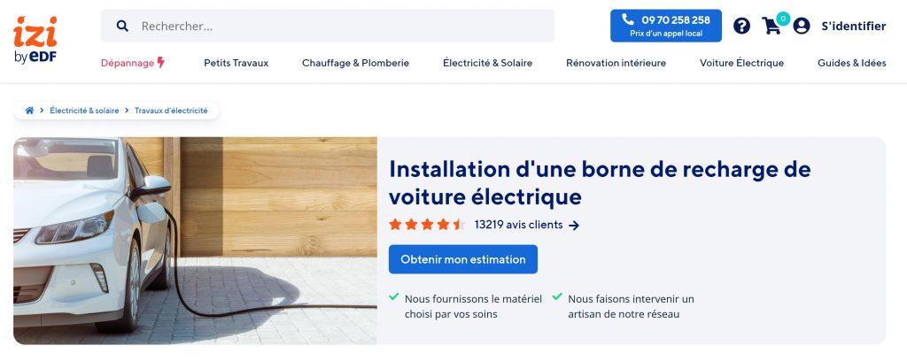 bornes de recharges izi by edf