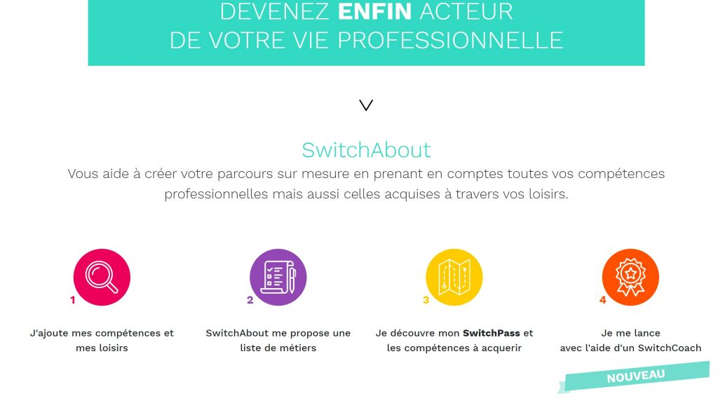 reconversion professionnelle Switch about site