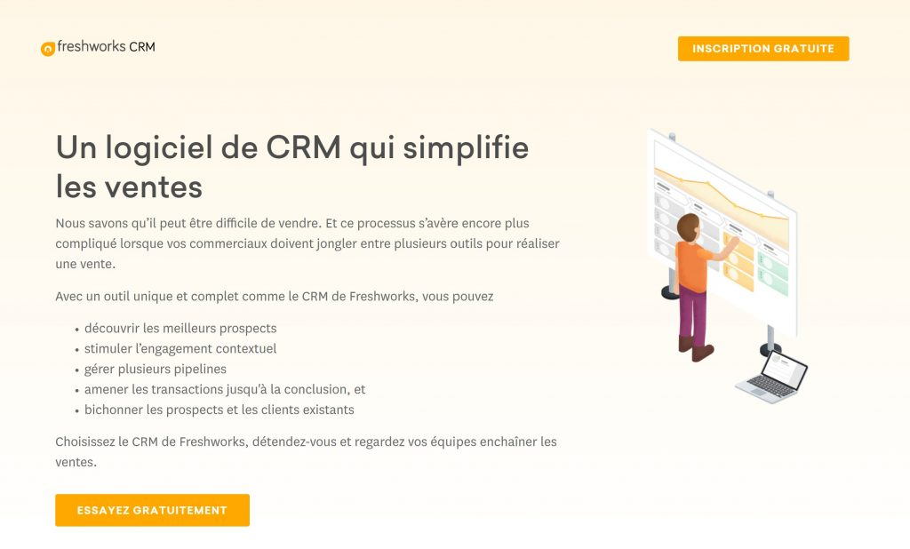 crm outil freshsales site internet