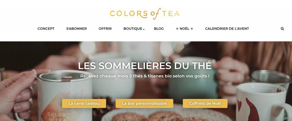 idées cadeaux offrir colors of tea