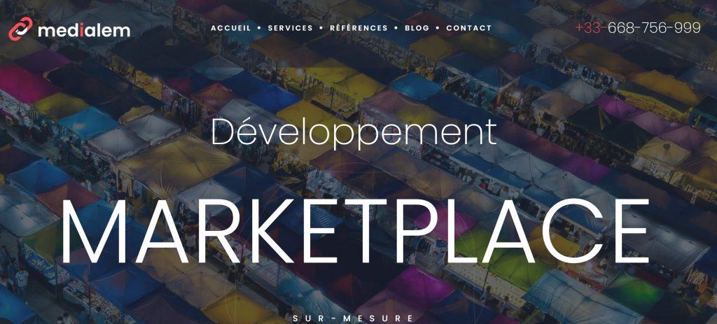 agence medialem marketplace création site