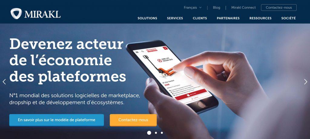 Marketplace site internet agence mirakl