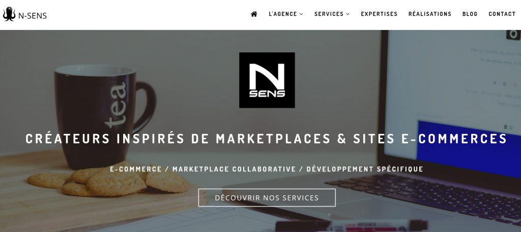 agence nsens marketplace site web