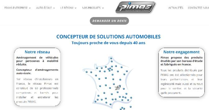 adaptation véhicule entreprise pimas