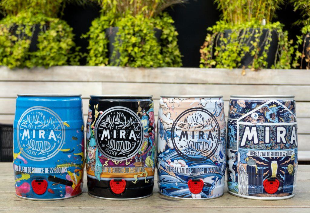 Bière mira futs cinq litre design