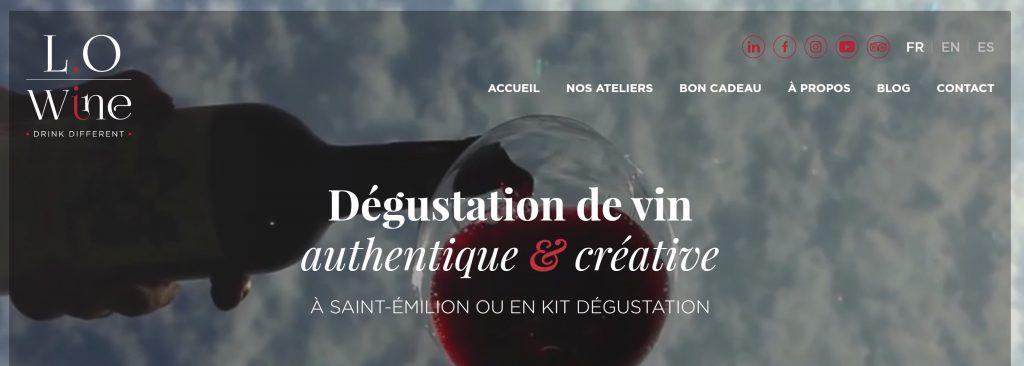 degustation vin lo wine saint emilion