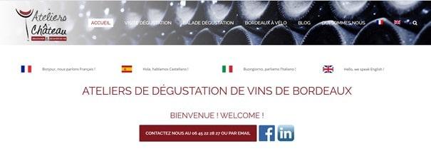 les ateliers au chateau degustation vin