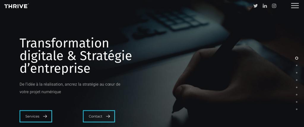Stratégie digitale Agence THRIVE bordeaux