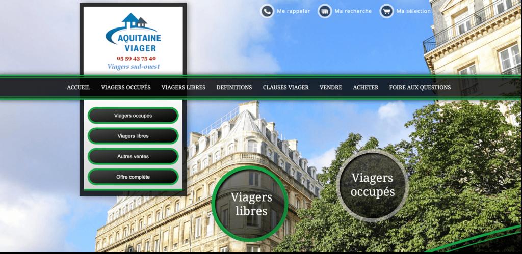 Aquitaine viager entreprise achat vente