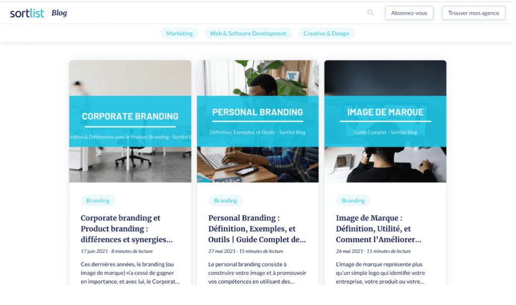 marketing de contenu blog sortlist