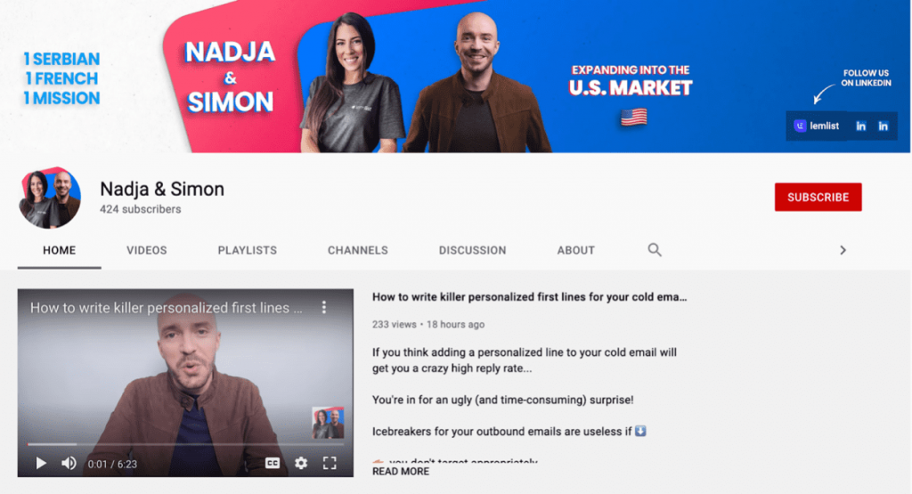 content marketing Nadja et Simon