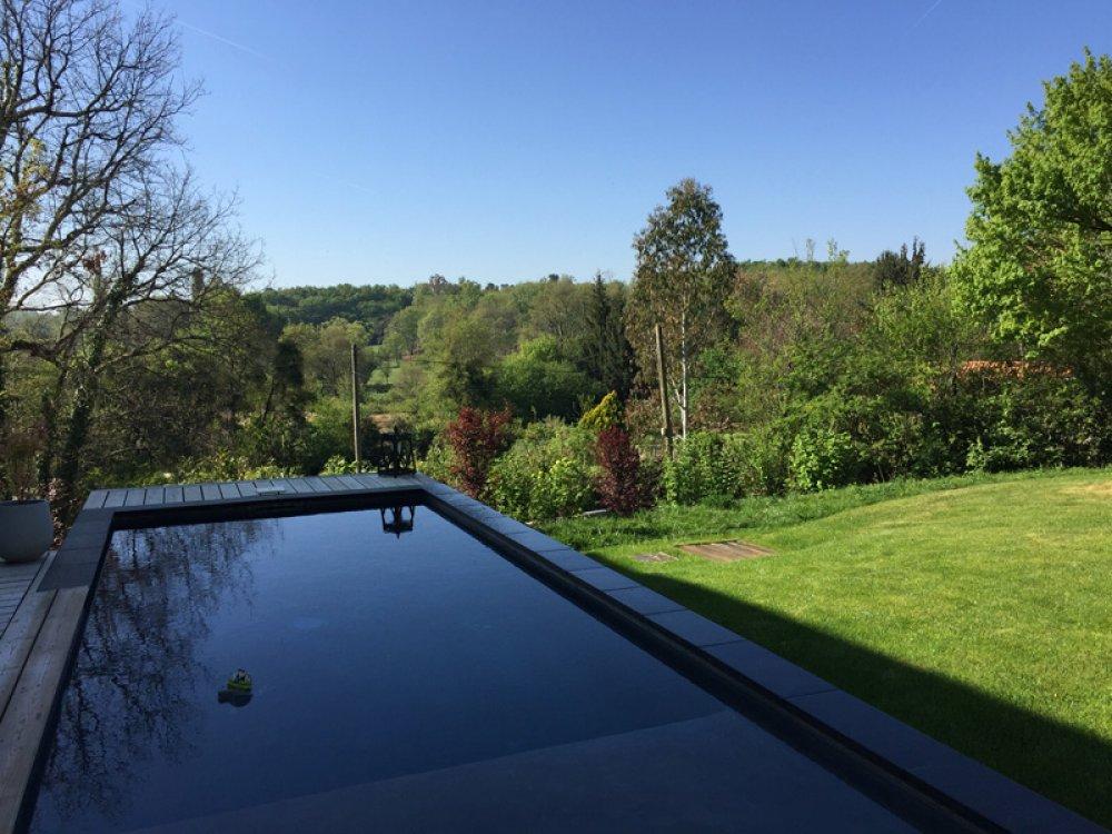 paysage jardin piscine