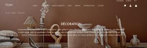 objets décoration en ligne fleux
